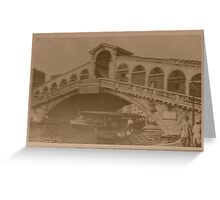 Rialto Bridge Vintage Greeting Card
