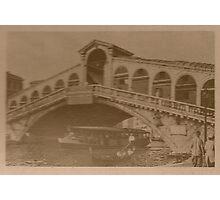 Rialto Bridge Vintage Photographic Print