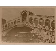Rialto Bridge Vintage Photographic Print