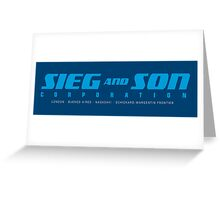 SIEG AND SON CORPORATION Greeting Card