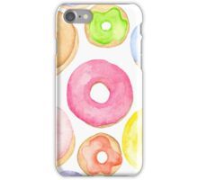 Water Colored Donuts iPhone Case/Skin