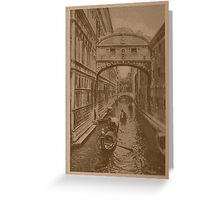 The sighs Bridge,Venice,Italy Greeting Card