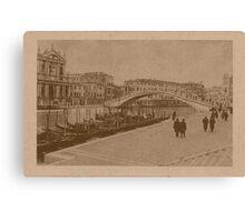 The New Station Bridge,Venice,Italy Canvas Print