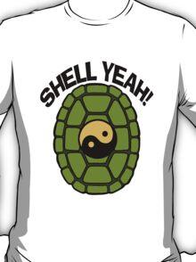 Shell Yeah Orange Sticker T-Shirt