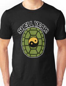 Shell Yeah Orange Sticker Unisex T-Shirt
