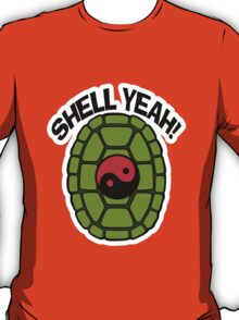 Shell Yeah Red Sticker T-Shirt