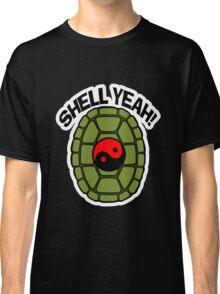 Shell Yeah Red Sticker Classic T-Shirt