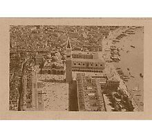 Aerial view of Saint Mark,Venice,Italy Photographic Print