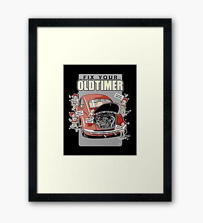 Fix your Oldtimer Car Framed Print