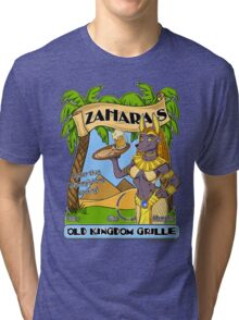 Zahara's Old Kingdom Grille Restaurant Parody  Tri-blend T-Shirt