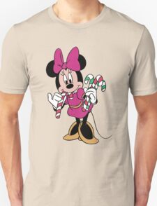 Minnie Mouse with Candy Canes T-Shirt