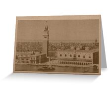 Venice' view from sea Greeting Card