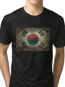Flag of South Korea, vintage retro style Tri-blend T-Shirt