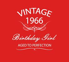 Vintage 1966 Birthday Girl Aged To Perfection Womens Fitted T-Shirt