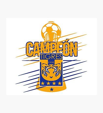 Tigres Campeón Fútbol Mexicano Photographic Print