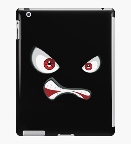 Evil face with red eyes 2 iPad Case/Skin