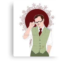 Mycroft Holmes - Office Glasses Canvas Print