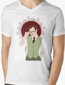 Mycroft Holmes - Office Glasses Mens V-Neck T-Shirt