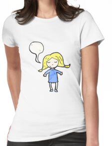 cartoon happy blond girl Womens Fitted T-Shirt