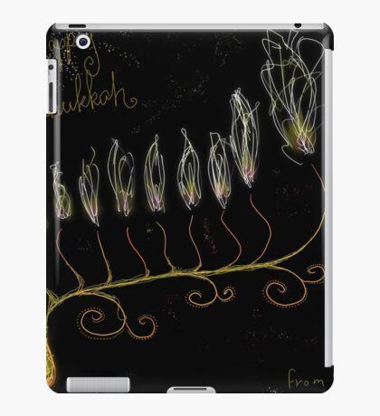Hanukkah flower in space iPad Case/Skin