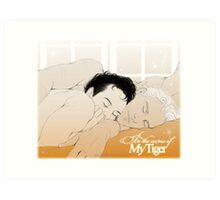 MorMor - In the Arms of my Tiger Art Print