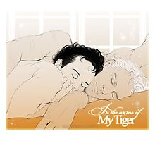 MorMor - In the Arms of my Tiger Photographic Print