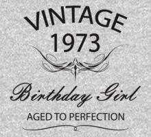 Vintage 1973 Birthday Girl Aged To Perfection by rardesign