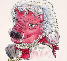 Mrs. Santa Claus Hog by Nadine Rippelmeyer