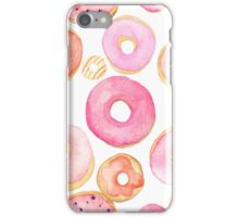 Strawberry Water Colored Donuts iPhone Case/Skin