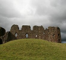 Brough Castle and Sheep by JasonBiggs
