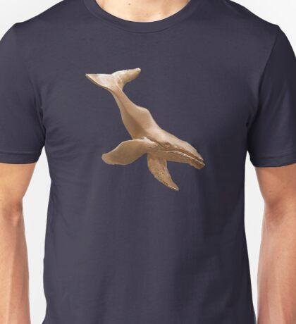 Gold Diving Humpback Whale Unisex T-Shirt