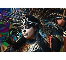 Dia do Los Muertos Dancer Photographic Print