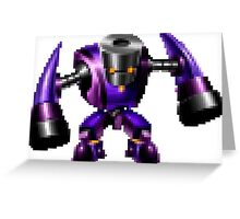 8bit Robot with hammers  Greeting Card