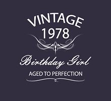 Vintage 1978 Birthday Girl Aged To Perfection Womens Fitted T-Shirt