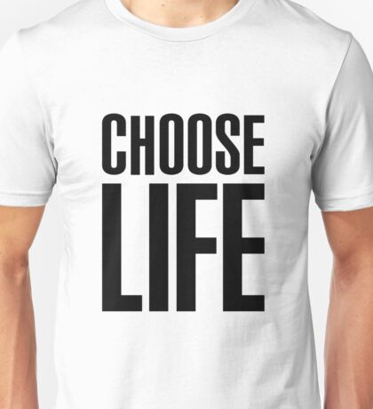 choose life george michael [white] Unisex T-Shirt