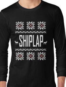 SHIPLAP Ugly Christmas Sweater T-Shirt, Funny Fixer Upper Shirts Long Sleeve T-Shirt