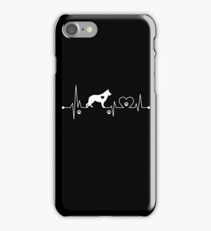 Heartbeat Dog German Shepherd iPhone Case/Skin