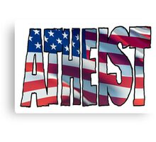USA ATHEIST Canvas Print