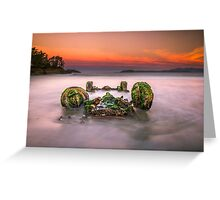 Wheels of Unfortune Greeting Card