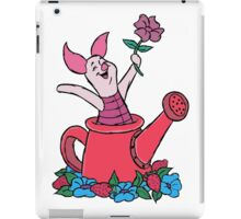 Piglet in a Watering Can iPad Case/Skin