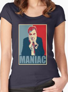 Maniac! Jeremy Clarkson Women's Fitted Scoop T-Shirt