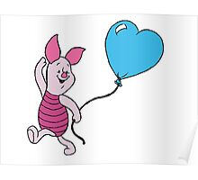 Piglet with a Balloon Poster
