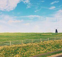 Windmill in a Field by lolohannah