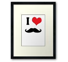 I heart mustaches Framed Print