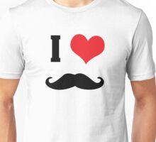I heart mustaches Unisex T-Shirt