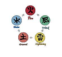 Naruto 5 chakra elements Photographic Print