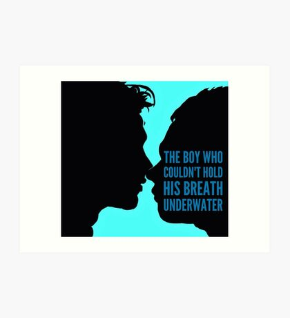 The Boy who couldn't hold his breath Art Print