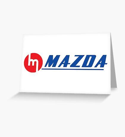 Vintage Mazda Logo Greeting Card