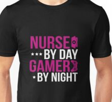 Nurse By Day Gamer By Night Unisex T-Shirt