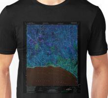 USGS TOPO Map California CA Topanga 300901 1952 24000 geo Inverted Unisex T-Shirt